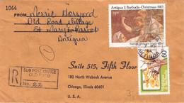 ANTIGUA & BARBUDA - REGISTERED MAIL 1984 > CHICAGO / PR73 - Antigua Y Barbuda (1981-...)