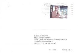 2016 €0,95 ELIO VITTORINI LETTERA X CITTA' DEL VATICANO - 2011-...: Poststempel