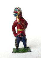 FIGURINE PLOMB CREUX BF BLANCHERIE FRERES INDIEN TOMAHAWK - Soldatini Di Piombo