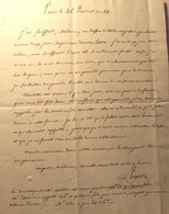 Lettre à La Princesse Constance Salm-Dick.1805 - Autographs