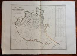 Zuccagni Orlandini Acquaforte Originale 1840 Atlante Geografico Regno Lombardo - Stampe & Incisioni