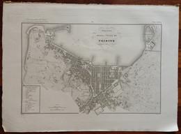 Zuccagni Orlandini Acquaforte Originale 1840 Atlante Geografico Pianta Trieste - Stampe & Incisioni