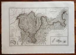 Zuccagni Orlandini Acquaforte Originale 1840 Atlante Geografico Svizzera 2 Carte - Stampe & Incisioni