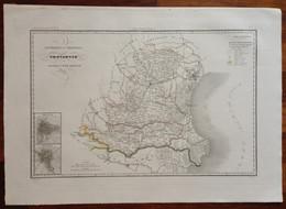 Zuccagni Orlandini Acquaforte Originale 1840 Atlante Geografico Padova Rovigo - Stampe & Incisioni