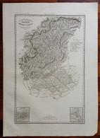 Zuccagni Orlandini Acquaforte Originale 1840 Atlante Geografico Treviso Belluno - Stampe & Incisioni