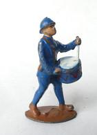 FIGURINE PLOMB CREUX CL CHARLES LANOY SOLDAT CASQUE ADRIAN TENUE Bleue TAMBOUR - Soldatini Di Piombo