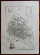 Zuccagni Orlandini Acquaforte Originale 1840 Atlante Geografico Pianta Pavia - Stampe & Incisioni