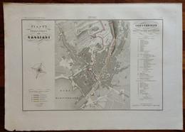 Zuccagni Orlandini Acquaforte Originale 1840 Atlante Geografico Pianta Cagliari - Stampe & Incisioni