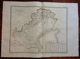 Zuccagni Orlandini Acquaforte Originale 1840 Atlante Geografico Regno Veneto - Stampe & Incisioni