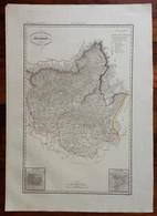 Zuccagni Orlandini Acquaforte Originale 1840 Atlante Geografico Bergamo Brescia - Stampe & Incisioni