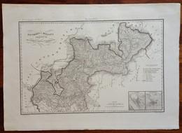 Zuccagni Orlandini Acquaforte Originale 1840 Atlante Geografico Como Valtellina - Stampe & Incisioni