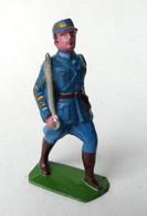FIGURINE PLOMB CREUX HR HENRI ROGER OFFICIER TENUE BLEUE AU DEFILE (1) - Soldatini Di Piombo