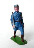 FIGURINE PLOMB CREUX HR HENRI ROGER OFFICIER TENUE BLEUE AU DEFILE (2) - Soldatini Di Piombo