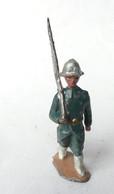 RARE FIGURINE PLOMB CREUX HR MARQUE INCONNUE SOLDAT ITALIEN AU DEFILE - Soldatini Di Piombo