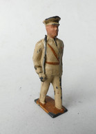 FIGURINE PLOMB CREUX LR LOUIS ROUSSY OFFICIER AU DEFILE Tenue Beige - Soldatini Di Piombo