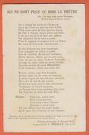 CHANSON LES POILUS -ILS NE SONT PLUS AU BOIS LE PRÊTRE-Fait Dans La Tranchée Le 30 Avril 1945-Souvenir De La Terrible... - Guerra 1914-18