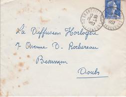 LETTRE DE GRANDVILLARS TERRITOIRE DE BELFORT 1957 - 1921-1960: Moderne