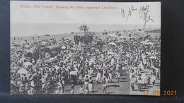 "CPA - Ceylan - Hindoo ""Vale Festival"" (showing The Silver Juggenauf Car) - Sri Lanka (Ceylon)"