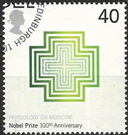GREAT BRITAIN 2001 Centenary Of Nobel Prizes - 40p - Crosses (Physiology Or Medicine) FU - Gebraucht
