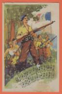 CHANSON CE SONT CEUX DU MAQUIS, CEUX DE LA RESISTANCE, CE SONT CEUX DU MAQUIS, JEUNESSE DU PAYS -Hommes-Drapeau-Armes - Guerra 1939-45