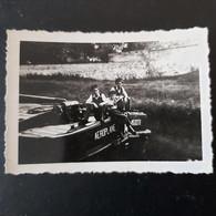 3 Jeunes Garçons à L'avant De Leurs Péniche (  Péniche AEROPLANE)  Photo 9cm/6cm - Boten