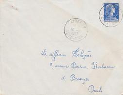 LETTRE DE AISEREY COTE D'OR 1957 - 1921-1960: Moderne