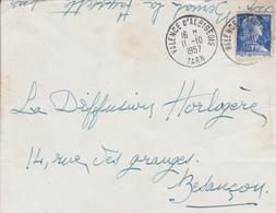LETTRE DE VALENCE D'ALBIGEOIS TARN 1957 - 1921-1960: Moderne