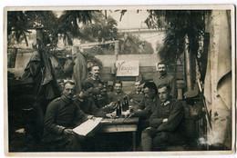 Foto AK 1.WK Soldaten 5. Garde-Regiment Zu Fuß Neujahr 1918 Cambrai  #201 - Guerra 1914-18