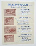 Pub Automobilia Années 1920 : Pare-choc Hartson / Camion Autobus Voiture Mestre & Blatgé - Cars