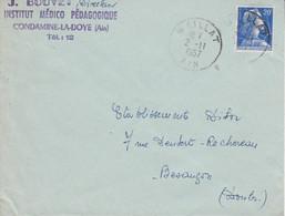 LETTRE DE MAILLAT AIN 1957 - 1921-1960: Moderne