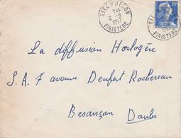 LETTRE DE RIEC SUR BELON FINISTERE 1957 - 1921-1960: Periodo Moderno