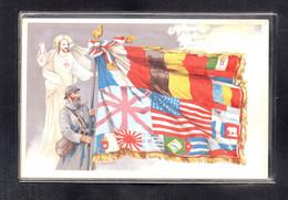 (23/09/21) THEME MILITARIA-CPA DRAPEAUX - Patriottiche