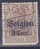 Série Courante - Deuches Reich -surchargé Belgien Et La Valeur  - 1905 - Y&T N° 82 - Obli  Départ à 50 % - Usados