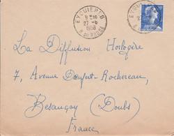 LETTRE DE EYGUIERES BOUCHES DU RHONE 1958 - 1921-1960: Moderne