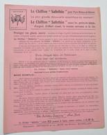 Pub Automobilia Années 1920 : Chiffon Safethin Pour Pare-brises Et Glaces / Dethoor à Bruxelles - Cars