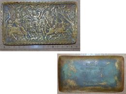 VIDE POCHE Coupelle En Bronze SCENE CHASSE MOYEN AGE Max Le Verrier - Bronzi