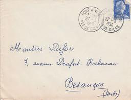 LETTRE DE PONT A VENDON PAS DE CALAIS 1958 - 1921-1960: Moderne