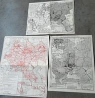 Histoire De L' Ancienne Russie Réunion De 3 Cartes Empire Russe  Révolution Russe ... - Geographical Maps