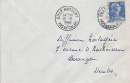 LETTRE DE BILLY-MONTIGNY PAS DE CALAIS 1958 - 1921-1960: Moderne
