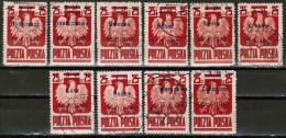PL 1945 MI 390 I-X USED - Used Stamps