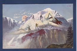 CPA Surréalisme Illustrateur Femme Women Alpinisme Montagne Non Circulé - Women