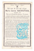 DP Maria Joanna Naerhuysen ° Zonhoven 1843 † Hasselt 1899 X Bernard Hendrik Cremers - Devotion Images