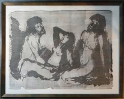 Représentation érotique, Marefonk, 1969, édition Limitée : 8/8/ Erotic Depiction, Marefonk, 1969, Limited Edition: 8/8 - Stampe & Incisioni
