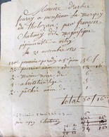 Magnifique Pepinieriste Francois Chatenay A Vitry.1824. - Autographs