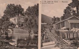 St JEAN Du Gard - MASSIES - 2 Vues : Château - Ateliers De L' Entreprise - 1907 - érosion - Saint-Jean-du-Gard