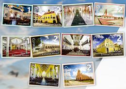 CURACAO 2021 RELIGIOUS BUILDINGS POSTFRIS MNH ** - Curacao, Netherlands Antilles, Aruba