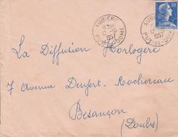 LETTRE DE AUBIERE PUY DE DOME 1957 - 1921-1960: Moderne