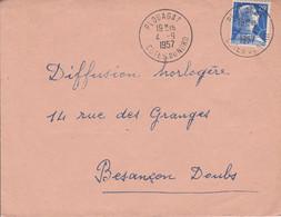 LETTRE DE PLOUAGAT COTES DU NORD 1957 - 1921-1960: Moderne