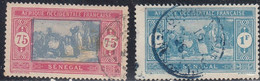 Senegal, Scott #110, 113, Used, Preparing Food, Issued 1914 - Oblitérés