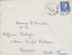 LETTRE DE CARQUEFOU LOIRE ATLANTIQUE 1958 - 1921-1960: Moderne